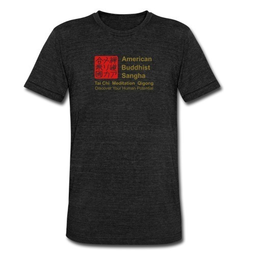 american buddhist sangha Unisex Tri-Blend T-Shirt by American Apparel Slimmer fitTri-blend vintage form fitting unisex t-shirt. 50% polyester, 25% cotton, 25% rayon.