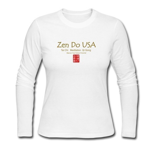 zen do usa Women's Long Sleeve Jersey T-Shirt Slimmer fitLong sleeve crew neck jersey t-shirt for women, 100% cotton, Brand: Anvil or Bella