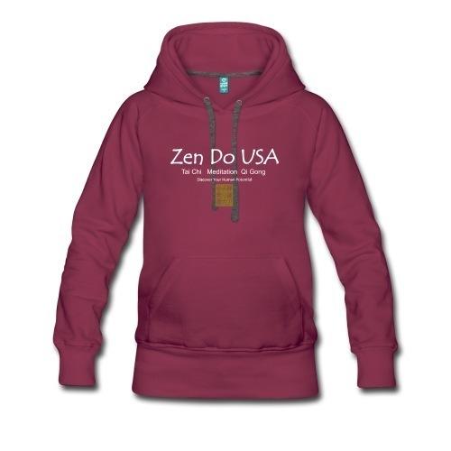 zen do usa Women's Premium Hoodie Slimmer fitWomen's Premium Hoodie | Brand: Spreadshirt | Fabric Content: 80% cotton / 20% polyester