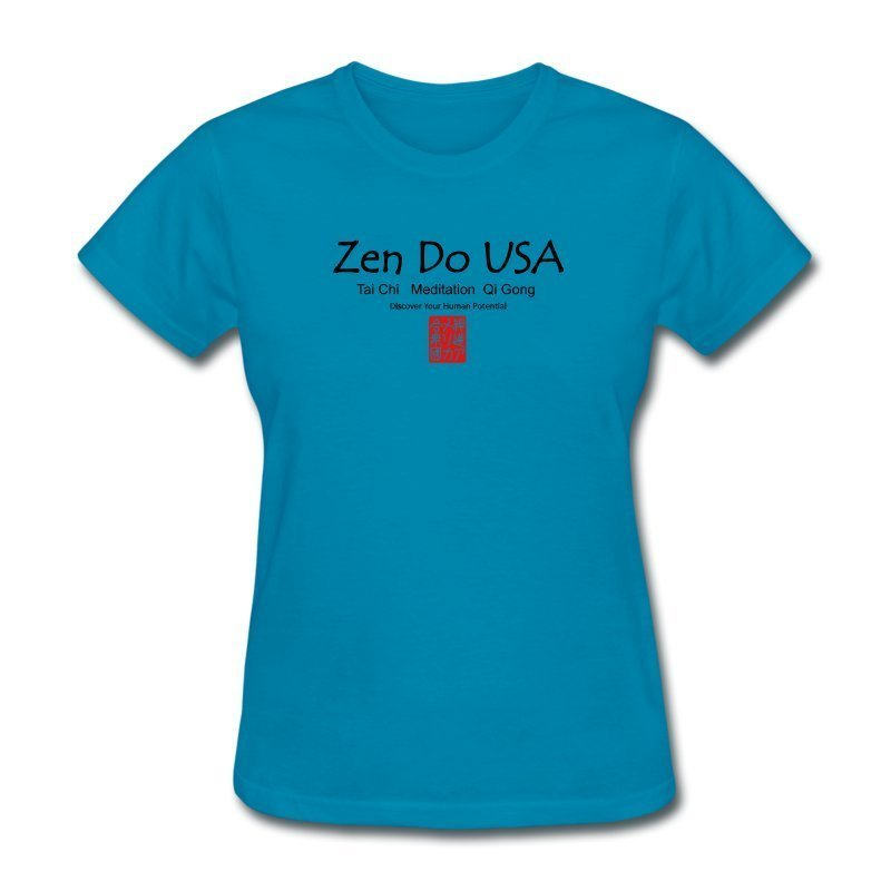 Zen Do USA Women's Premium T-Shirt Slimmer fitFitted classic t-shirt for women, 100% cotton (