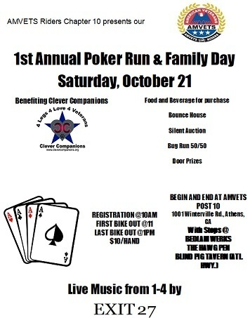 Poker run warner robins