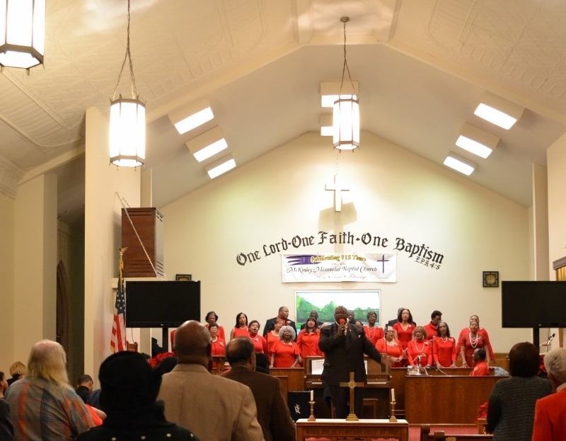 REv Payne and Choir