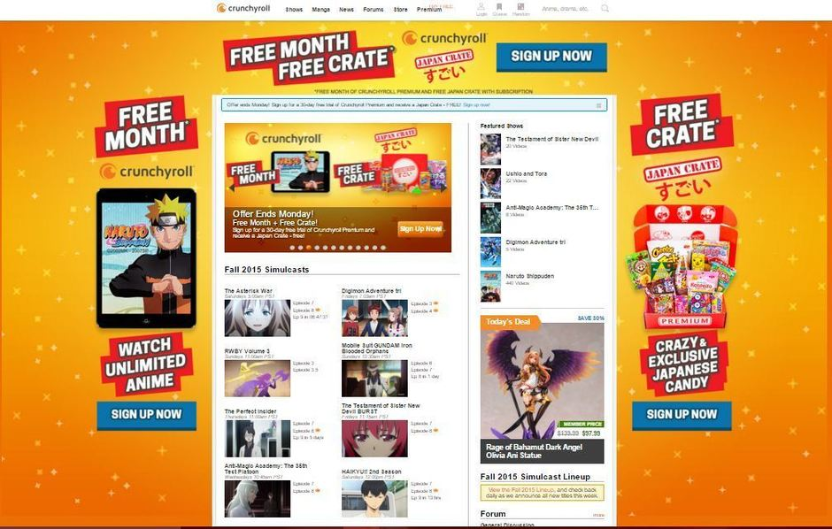 best 10 free anime sites