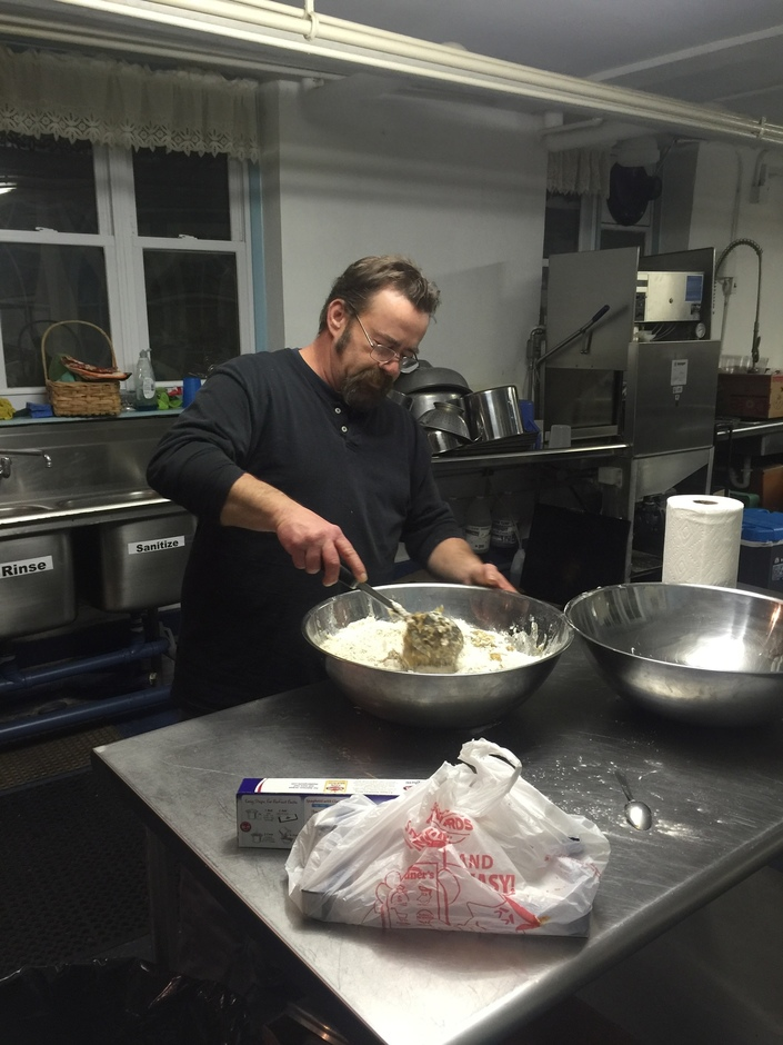 Chef Angell in Kitchen of People's Church