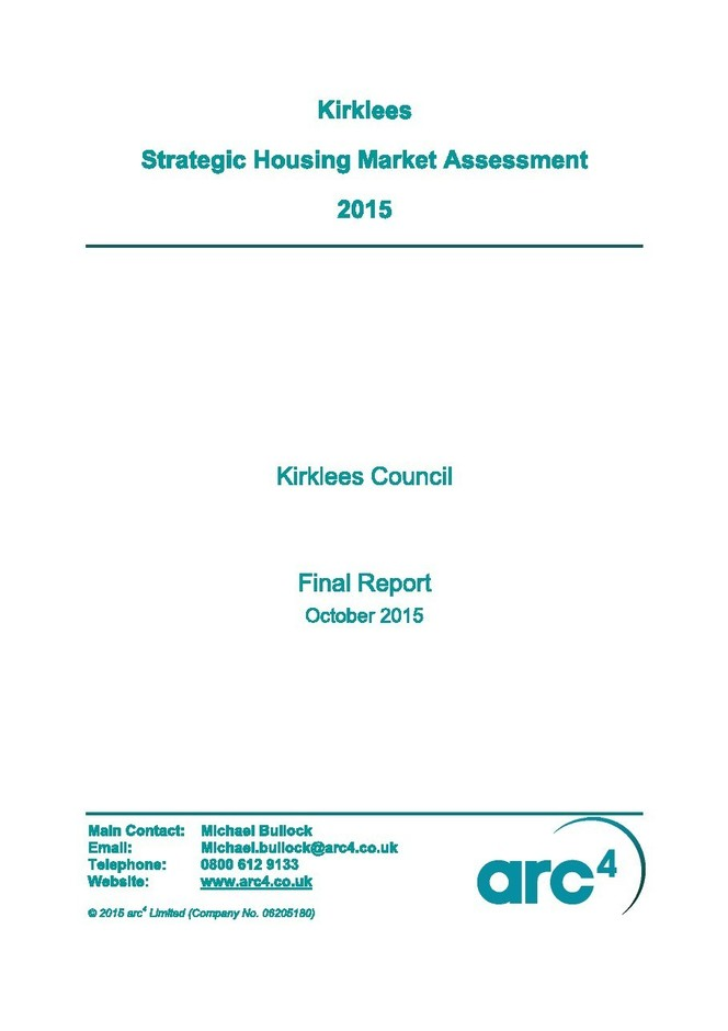 Kirklees Strategic Housing Market Assessment 2015