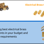 Different type of electrical brass components and accessories