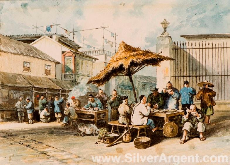 Macao Food Stall circa 1839