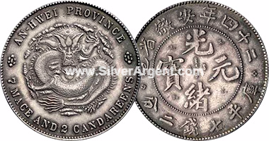 China Anhwei (An-Hwei) Silver Coins 1897
