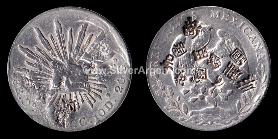 1888 México 8 Reals Trade Coin Silver Chop Marks.png