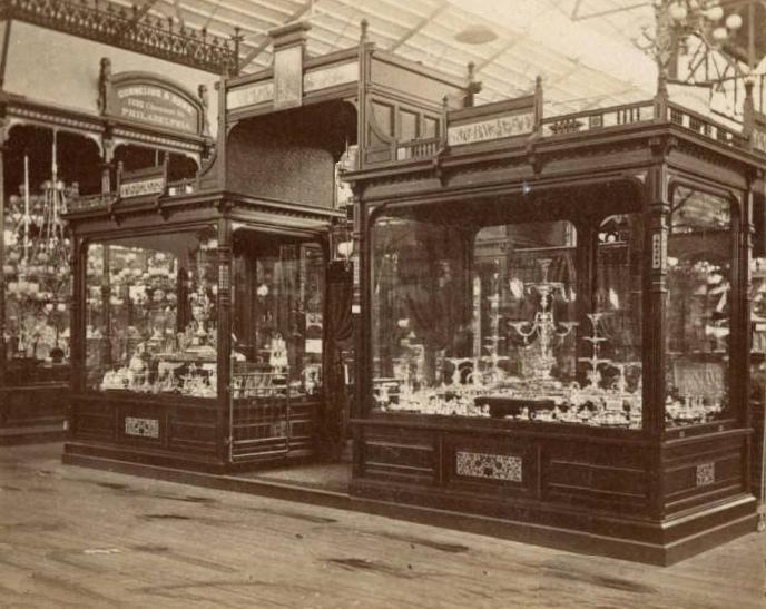 Reed & Barton display at the 1876 Centennial International Exhib