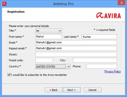 avira pro activation code 2017