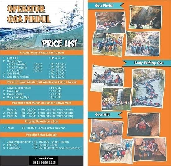 Tiket Masuk Wisata Goa Pindul