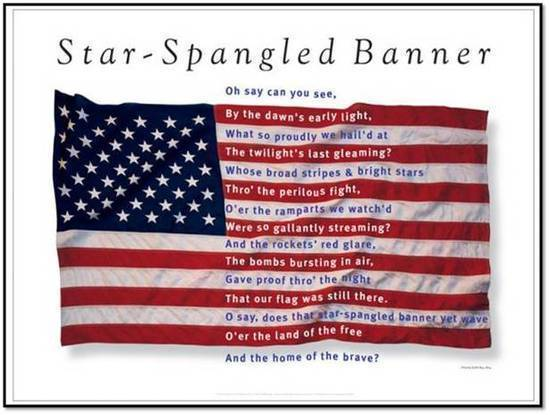Star Spangled Banner Flag with Lyrics
