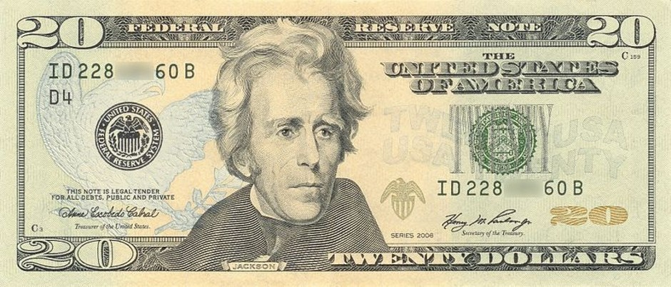 Andrew Jackson on the $20 Bill