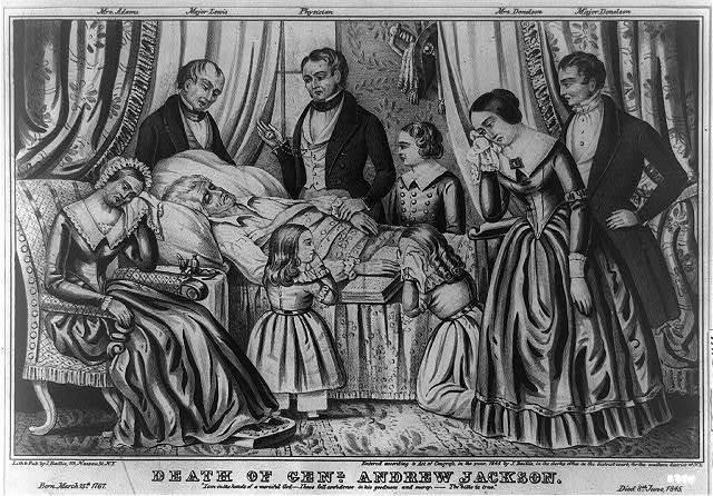 Andrew Jackson's deathbed