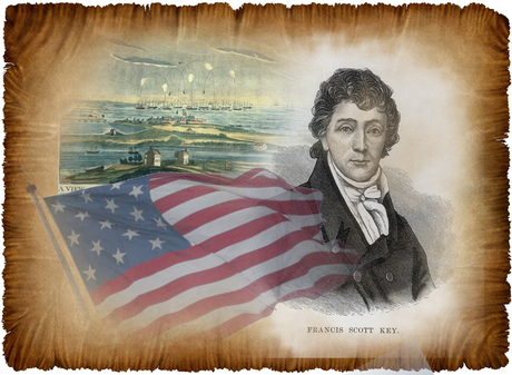 Francis Scott Key & the Star Spangled Banner (midsize)