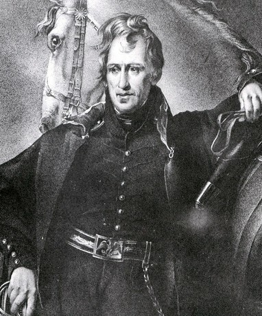 Andrew Jackson as a young officer (midsize)