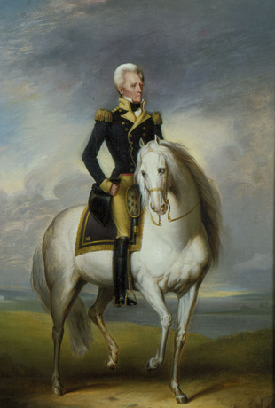 Andrew Jackson astride his horse Patch (midsize)