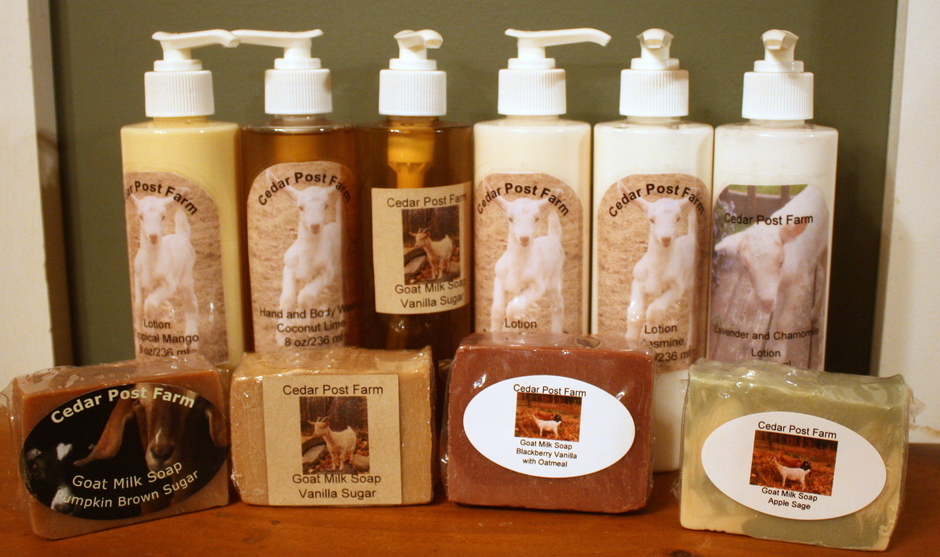 multiple soap and lotion