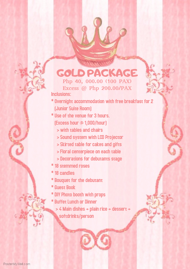 EVENT PACKAGES LA PAMELA SUITES KORONADAL powered by Doodlekit