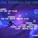 Weekly Teaching Schedule