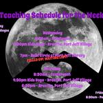 Weekly Teaching Schedule 11/5/17-11/11/17