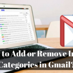 How to Add or Remove Inbox Categories in Gmail?
