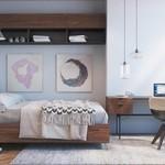 Inspirasi Desain Interior Kamar Tidur Ukuran Kecil Yang Sederhana