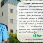 Dr Harshvardhan Hegde Continually Ranked The #1 Surgeon For Orthopedics In The Delhi NCR