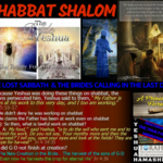 Lost Sabbath and Yeshuas calling in these Last Days
