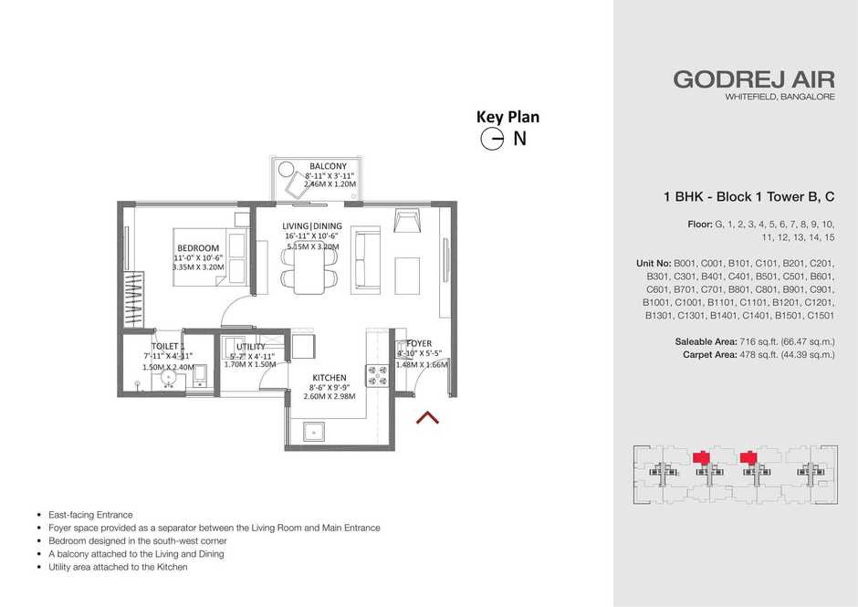 Godrej Air Whitefield Floor Plans