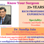 Dr. Sandip Jain Offers The Highest Quality Cosmetic Surgery Care In India