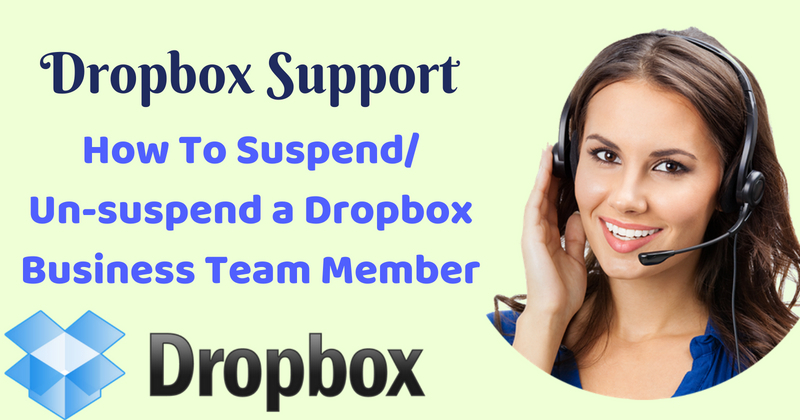Dropbox Support