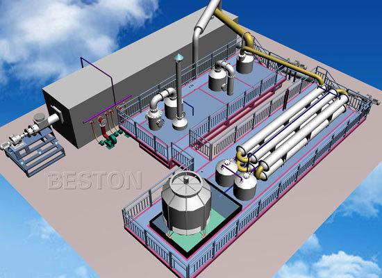 Beston Plastic to Oil Conversion Machine for Sale - 3D Model