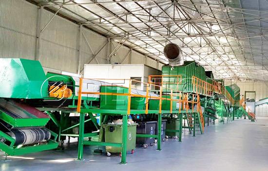 Beston Garbage Sorting Plant Installed in Uzbekistan