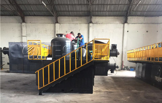 Beston Continuous Tyre Pyrolysis Plant In South Africa