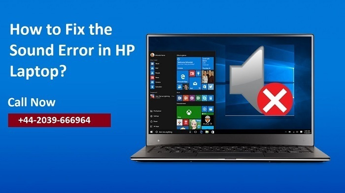 audio is not working in hp laptop
