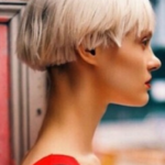 Fashion cool girl variety hair color