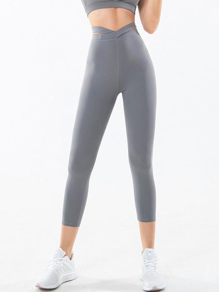 shestar wholesale cross front elastic yoga sports leggings