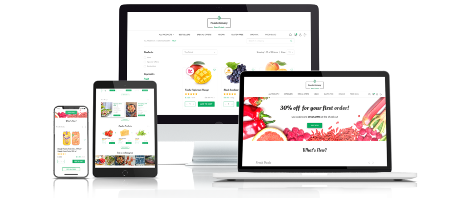 Top Ecommerce Web Design And Development Solutions food-ecommerce-presentation-1